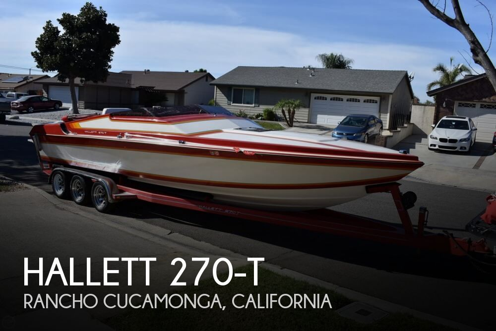 1988 Hallett boat for sale, model of the boat is 270-T & Image # 1 of 40