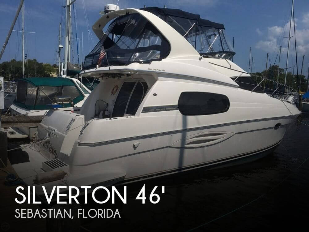 Used Boats For Sale in Palm Bay, Florida by owner | 2002 Silverton 410 Sportbridge