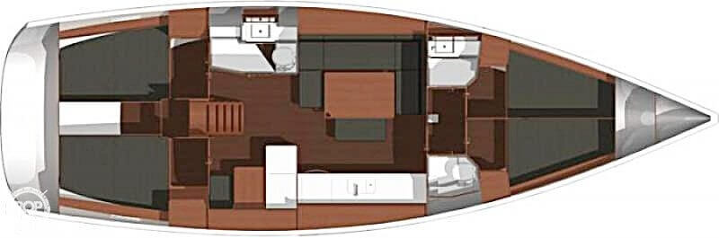 2014 Dufour boat for sale, model of the boat is 450 Grande Large & Image # 6 of 41
