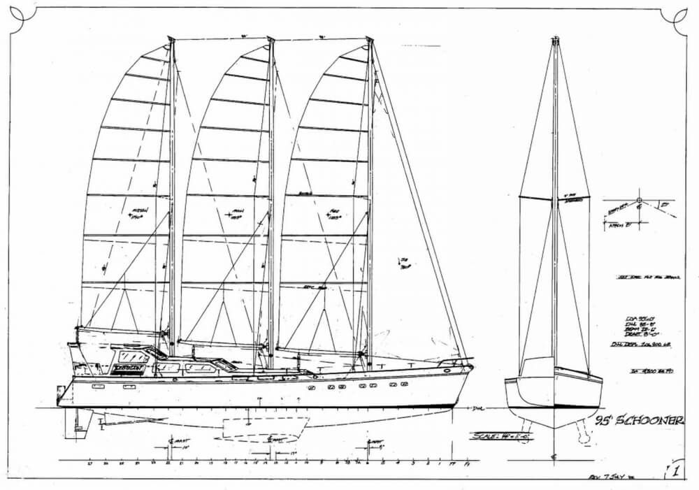 2018 Custom boat for sale, model of the boat is 96' 3 Masted Schooner Project & Image # 3 of 40