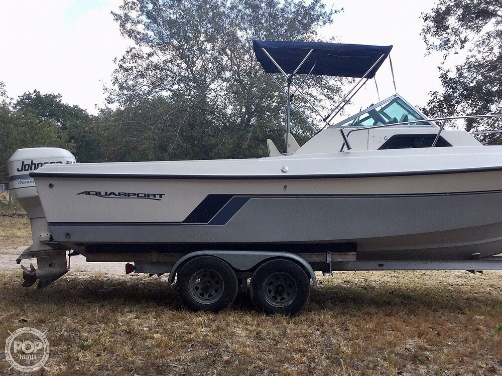 1989 Aquasport boat for sale, model of the boat is 222 Express Fisherman & Image # 26 of 41