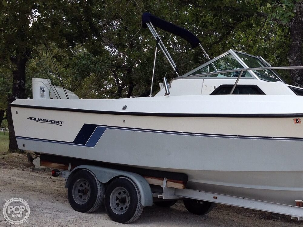 1989 Aquasport boat for sale, model of the boat is 222 Express Fisherman & Image # 28 of 41
