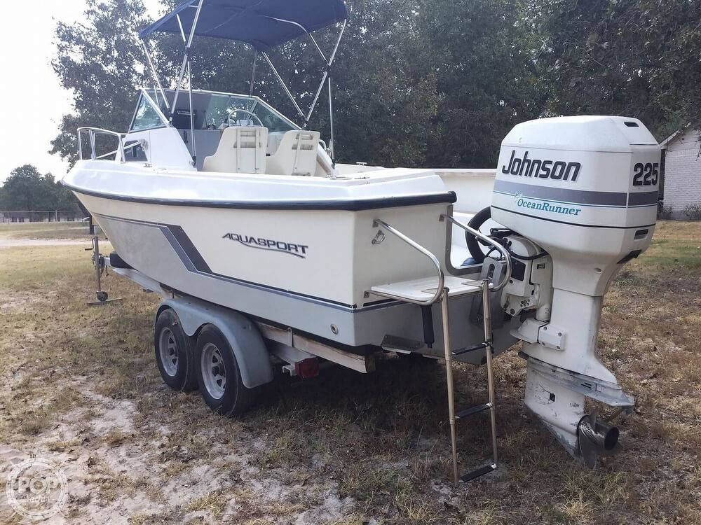 1989 Aquasport boat for sale, model of the boat is 222 Express Fisherman & Image # 29 of 41