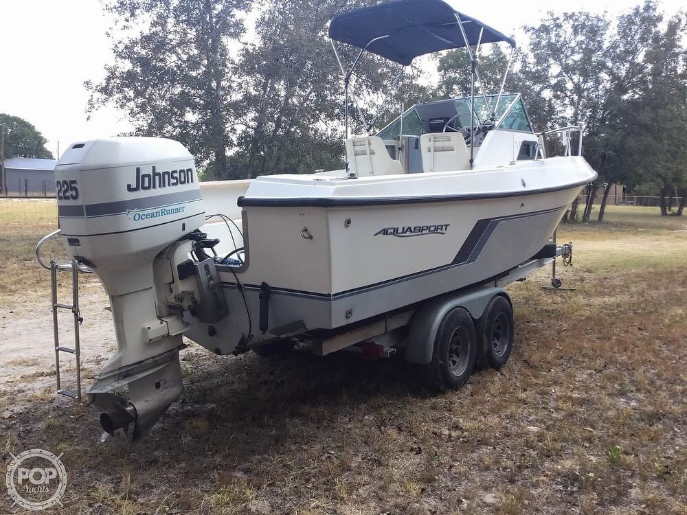 1989 Aquasport boat for sale, model of the boat is 222 Express Fisherman & Image # 30 of 41