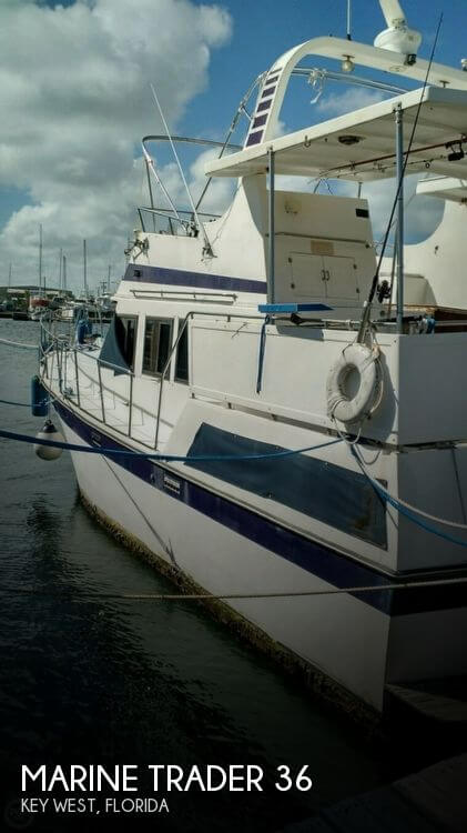 1990 Marine Trader boat for sale, model of the boat is 36 & Image # 1 of 40