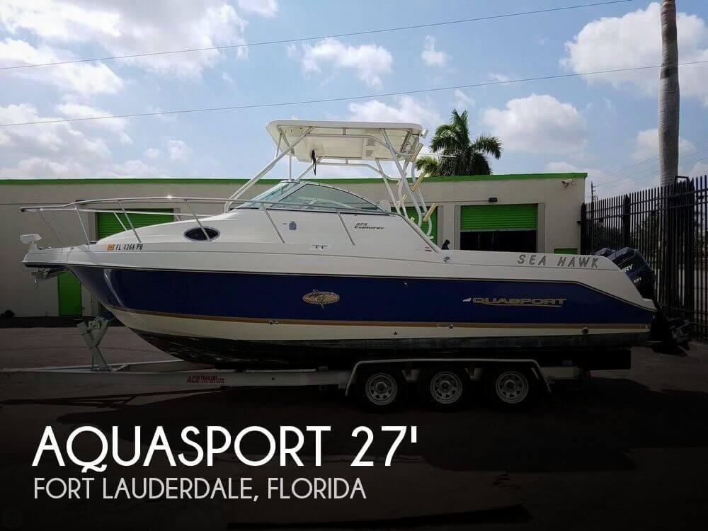 Used Aquasport Boats For Sale by owner   2001 Aquasport 27