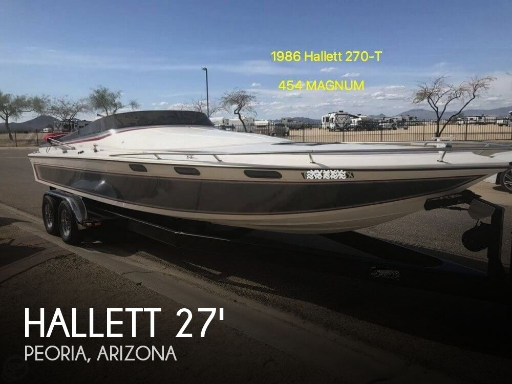 1986 Hallett boat for sale, model of the boat is 270-T (7.9EXP) & Image # 1 of 41