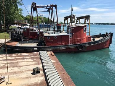 Steel Riveted Steel Tug, 55', for sale - $17,500