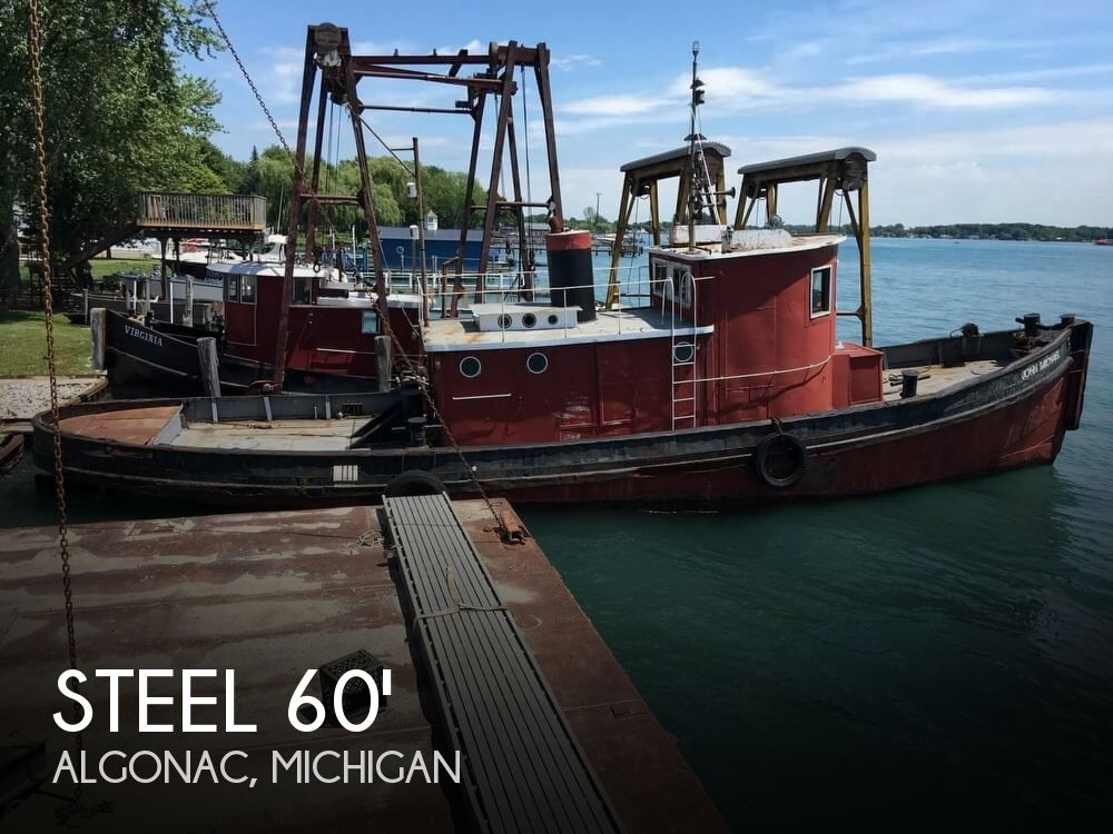 1913 Steel boat for sale, model of the boat is Riveted Steel Tug & Image # 1 of 40