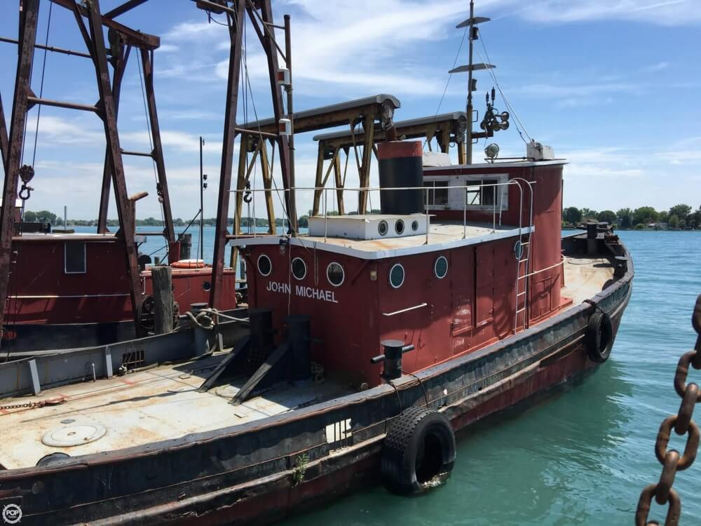 1913 Steel boat for sale, model of the boat is Riveted Steel Tug & Image # 2 of 40