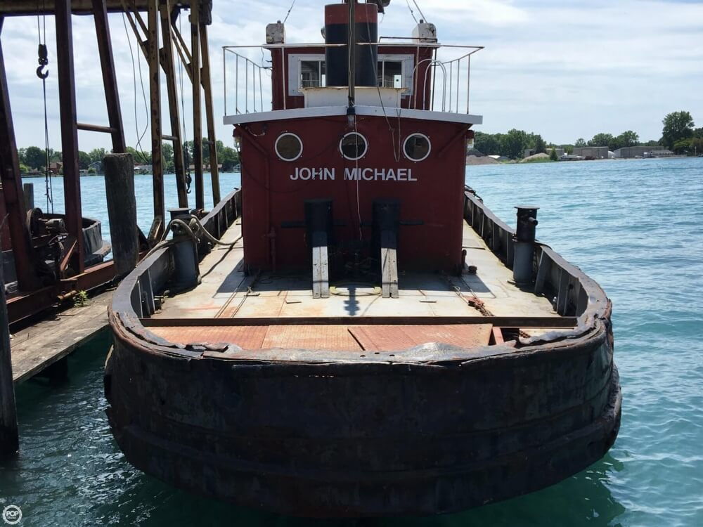 1913 Steel boat for sale, model of the boat is Riveted Steel Tug & Image # 3 of 40