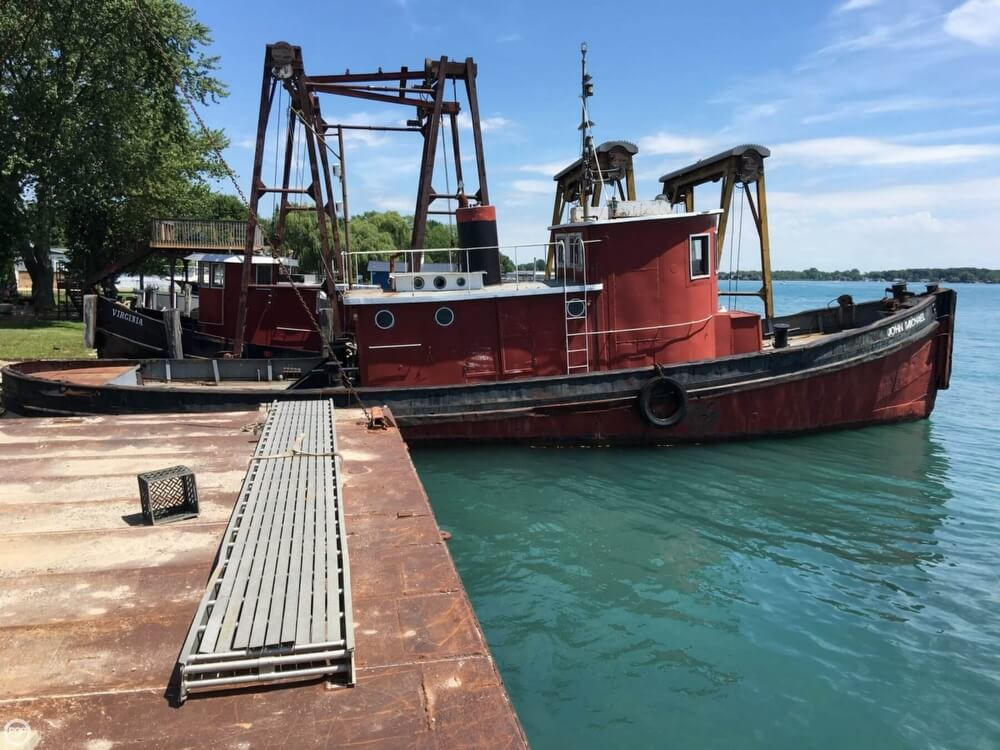 1913 Steel boat for sale, model of the boat is Riveted Steel Tug & Image # 13 of 40
