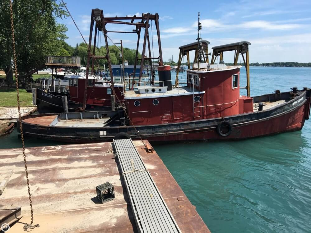 1913 Steel boat for sale, model of the boat is Riveted Steel Tug & Image # 16 of 40