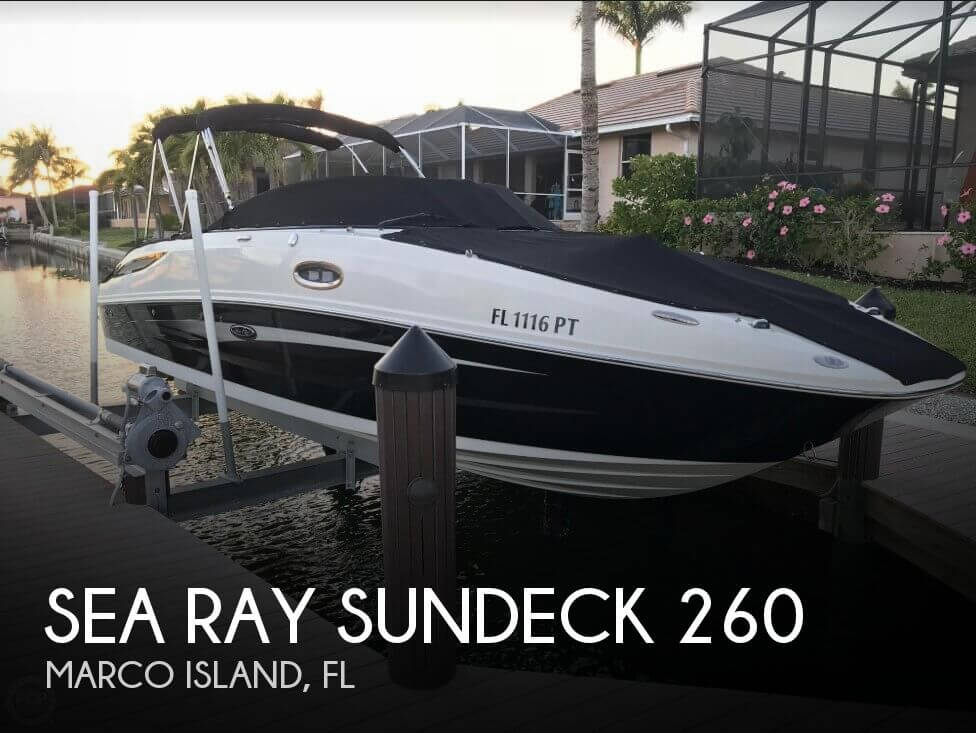 Used Sea Ray Deck Boats For Sale by owner | 2014 Sea Ray Sundeck 260