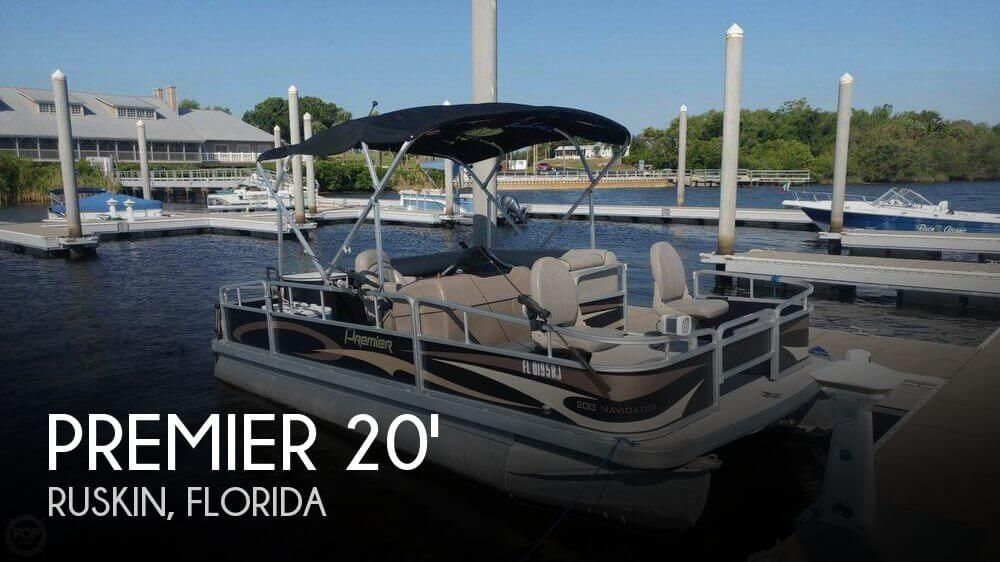 Used Pontoon Boats For Sale in Florida by owner | 2014 Premier Pontoons 20