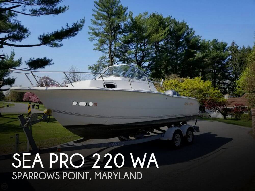 Sold Sea Pro 220 Wa Boat In Sparrows Point Md 150847