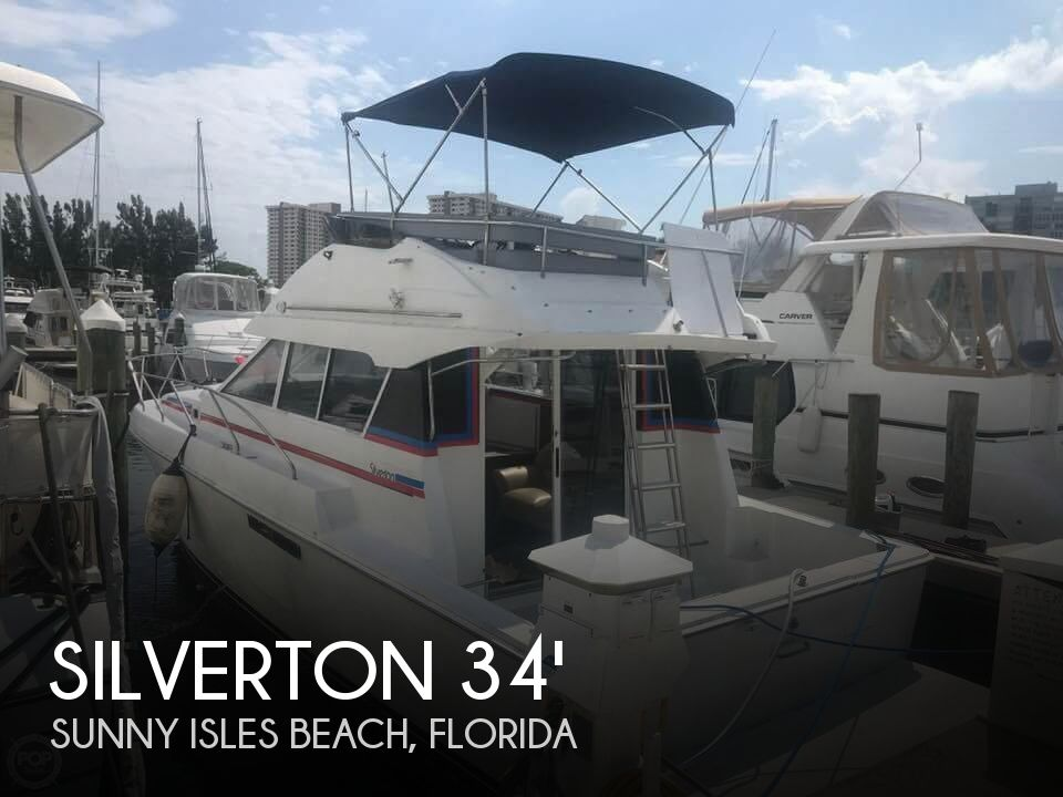 1995 Silverton boat for sale, model of the boat is Convertible 34 & Image # 1 of 40