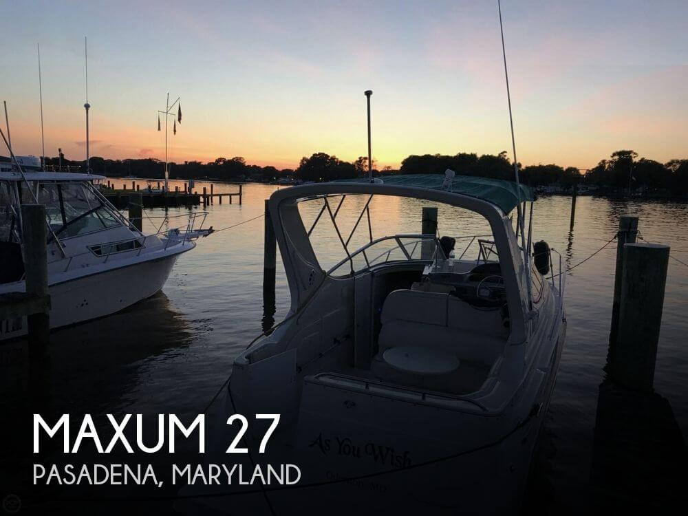 Used Maxum Boats For Sale in Maryland by owner | 1997 Maxum 27