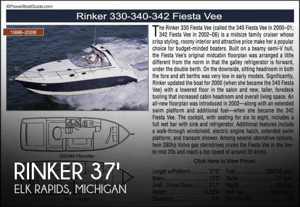 Used Rinker Boats For Sale by owner | 2002 Rinker 342 Fiesta Vee