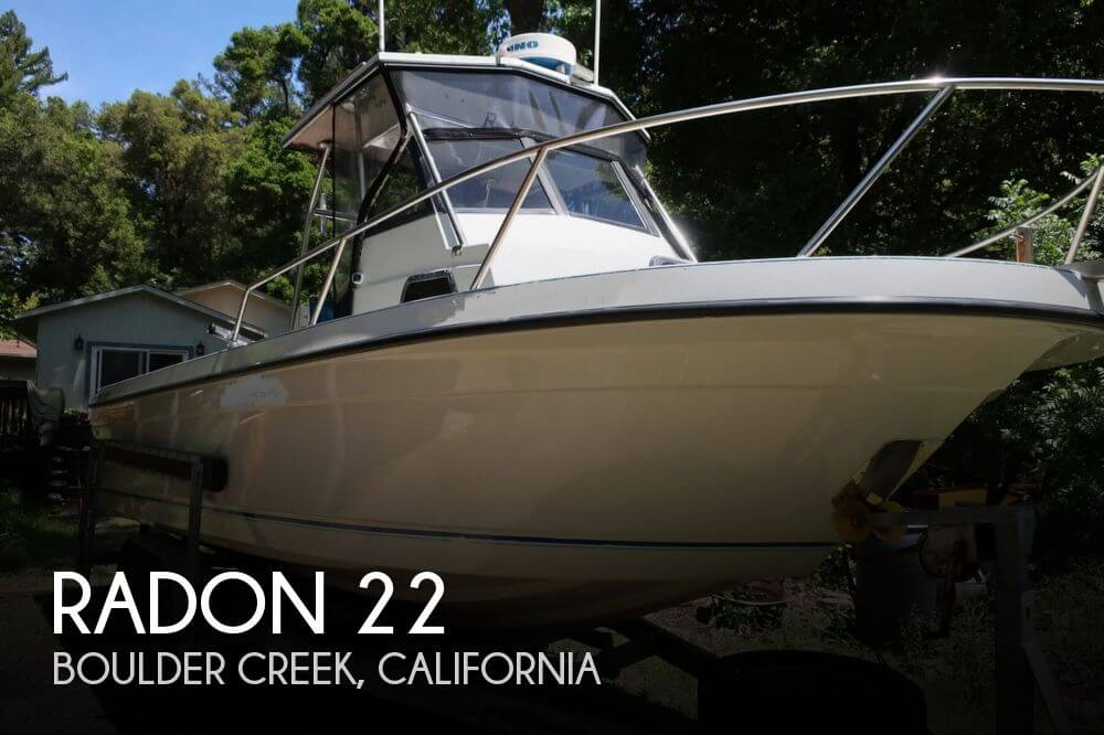 Used Boats For Sale in Santa Cruz, California by owner | 1990 Radon 22