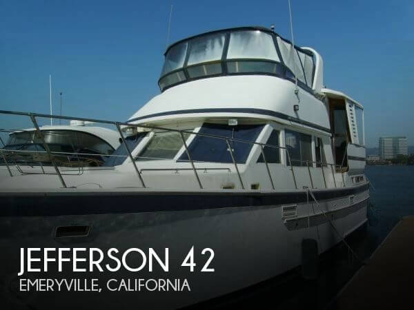 Used Boats For Sale in Santa Cruz, California by owner | 1986 Jefferson 42