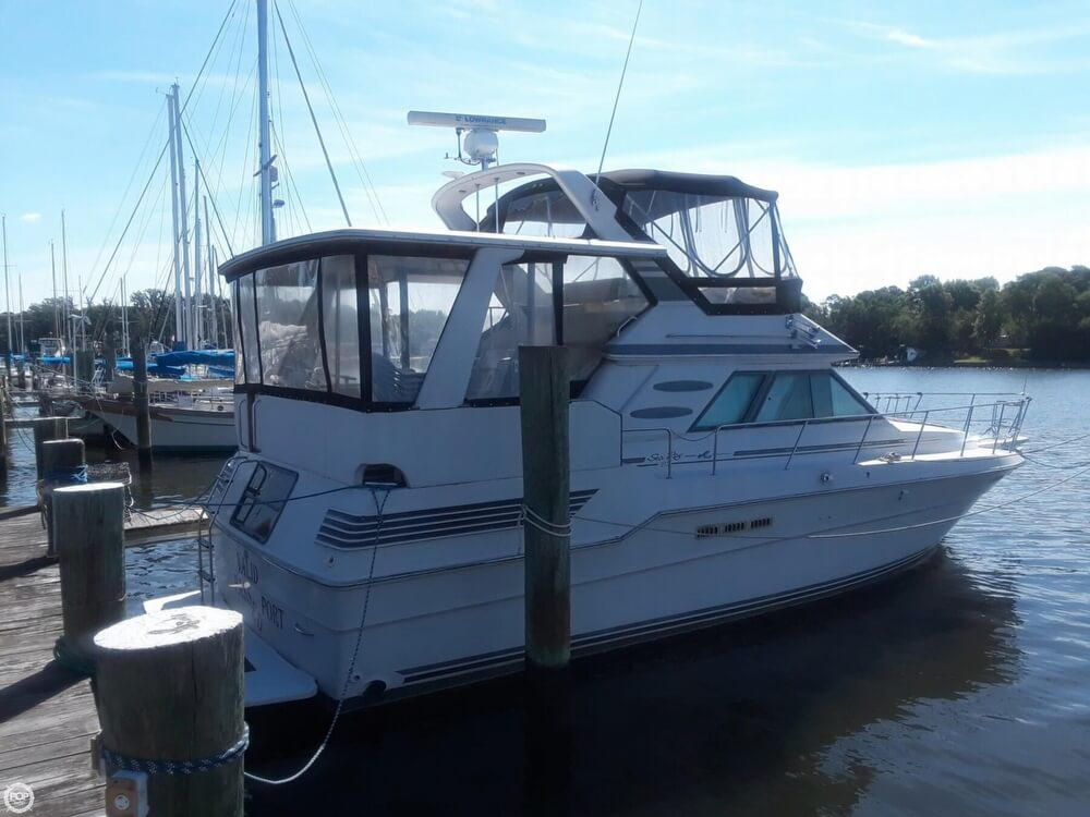 1988 Sea Ray boat for sale, model of the boat is 415 Aft Cabin & Image # 2 of 40