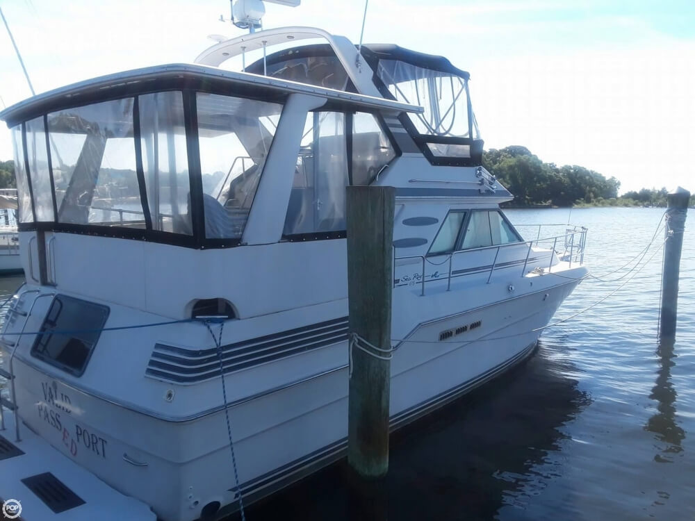 1988 Sea Ray boat for sale, model of the boat is 415 Aft Cabin & Image # 3 of 40