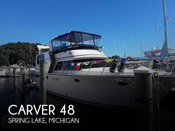Used Boats For Sale in Michigan by owner | 1990 Carver 48