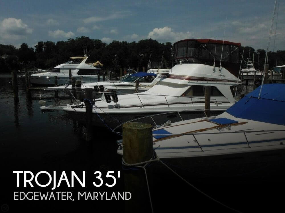 Used Fishing boats For Sale in Maryland by owner   1987 Trojan 35