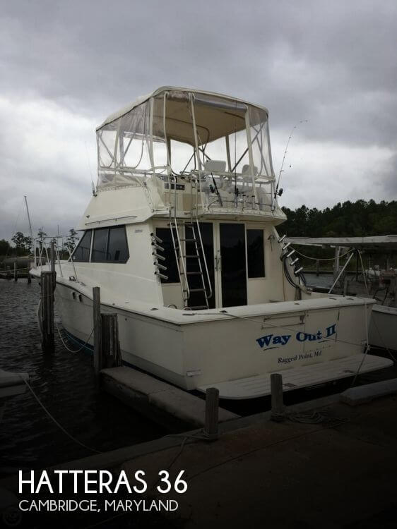 Used Fishing boats For Sale in Maryland by owner   1987 Hatteras 36