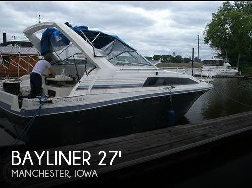 Used Boats For Sale in Cedar Rapids, Iowa by owner | 1986 Bayliner 27