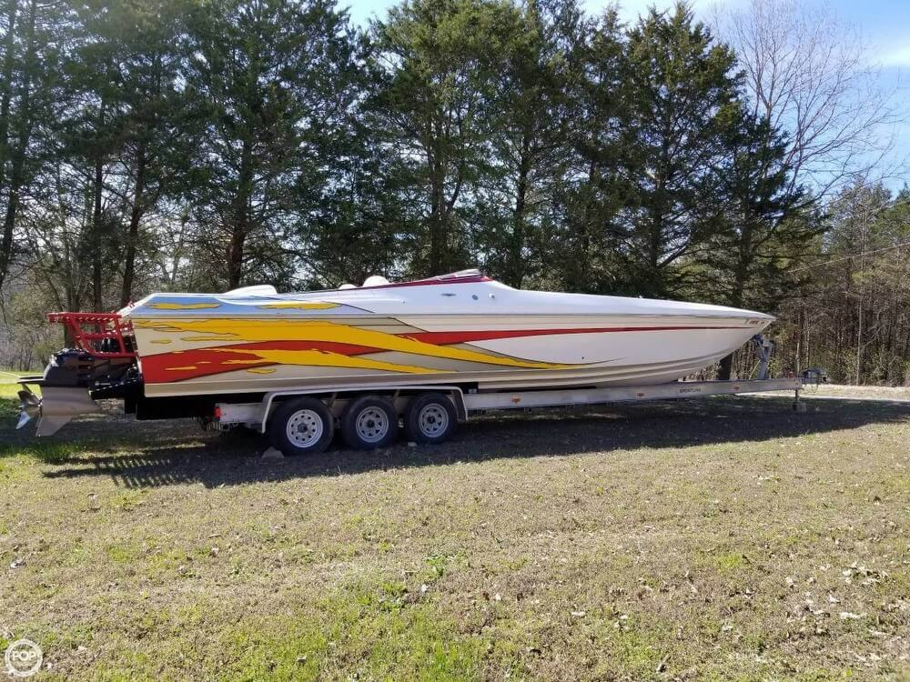 2008 Profile boat for sale, model of the boat is 382V Poker Run Edition & Image # 2 of 40