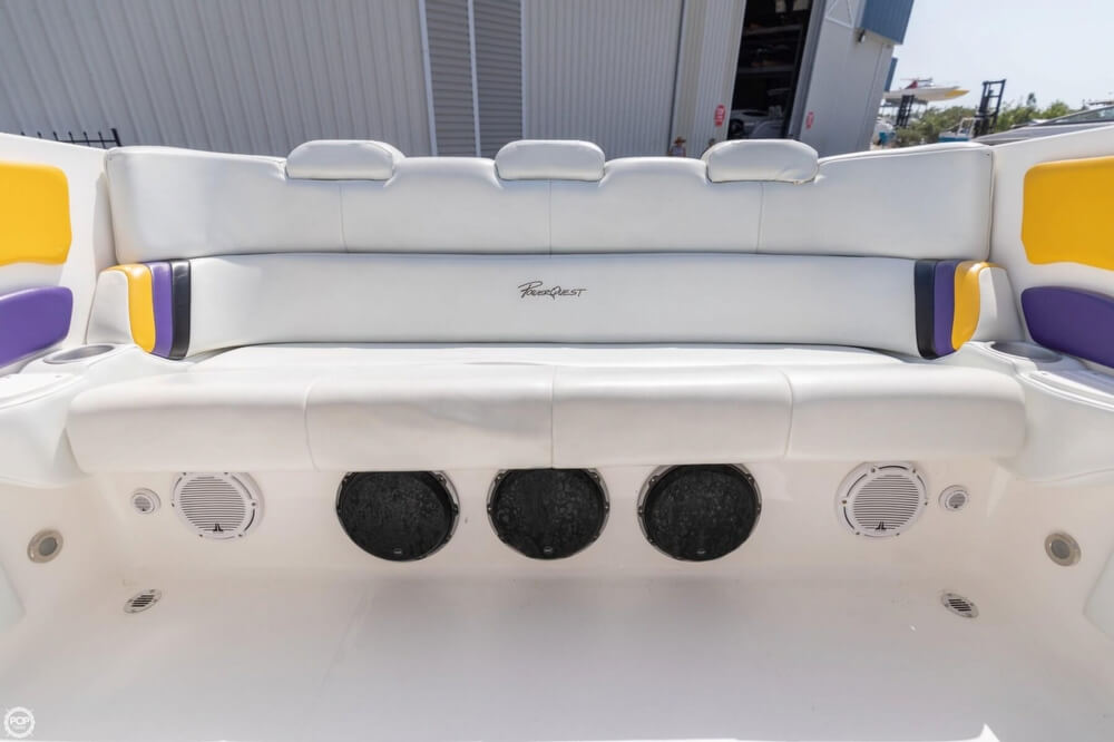 2001 Powerquest boat for sale, model of the boat is 380 Avenger & Image # 22 of 40