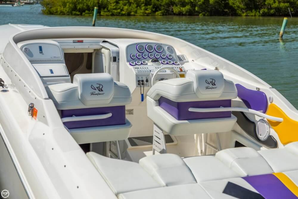 2001 Powerquest boat for sale, model of the boat is 380 Avenger & Image # 7 of 40