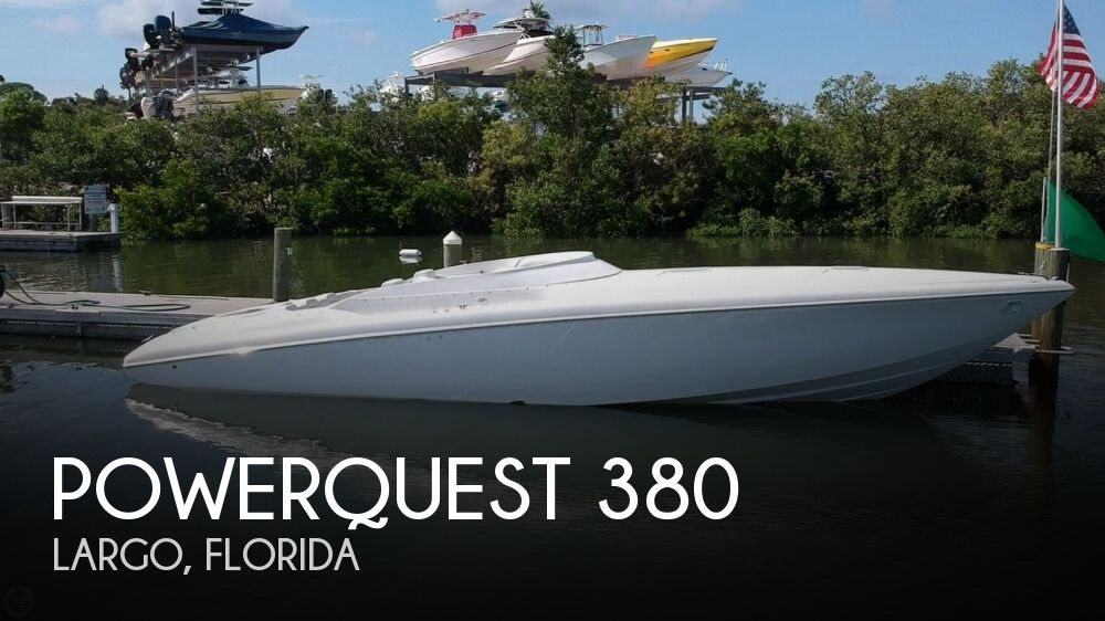 2001 Powerquest boat for sale, model of the boat is 380 Avenger & Image # 1 of 40