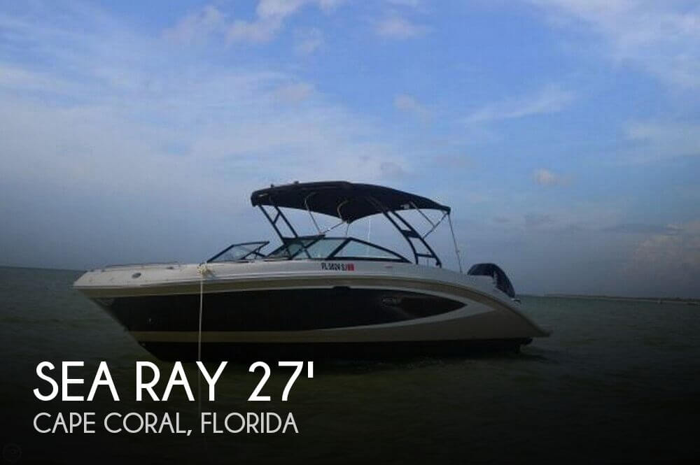 Used Deck Boats For Sale in Florida by owner | 2015 Sea Ray SUNDECK 270 OB