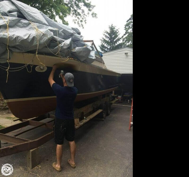 1970 Lyman boat for sale, model of the boat is 26 & Image # 4 of 15
