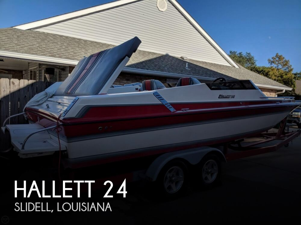 1992 Hallett boat for sale, model of the boat is 24 & Image # 1 of 41