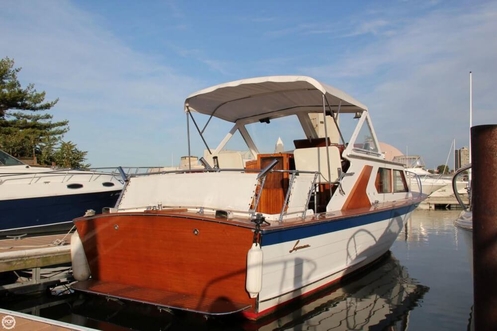 1969 Lyman boat for sale, model of the boat is 26 Express Cruiser & Image # 4 of 40