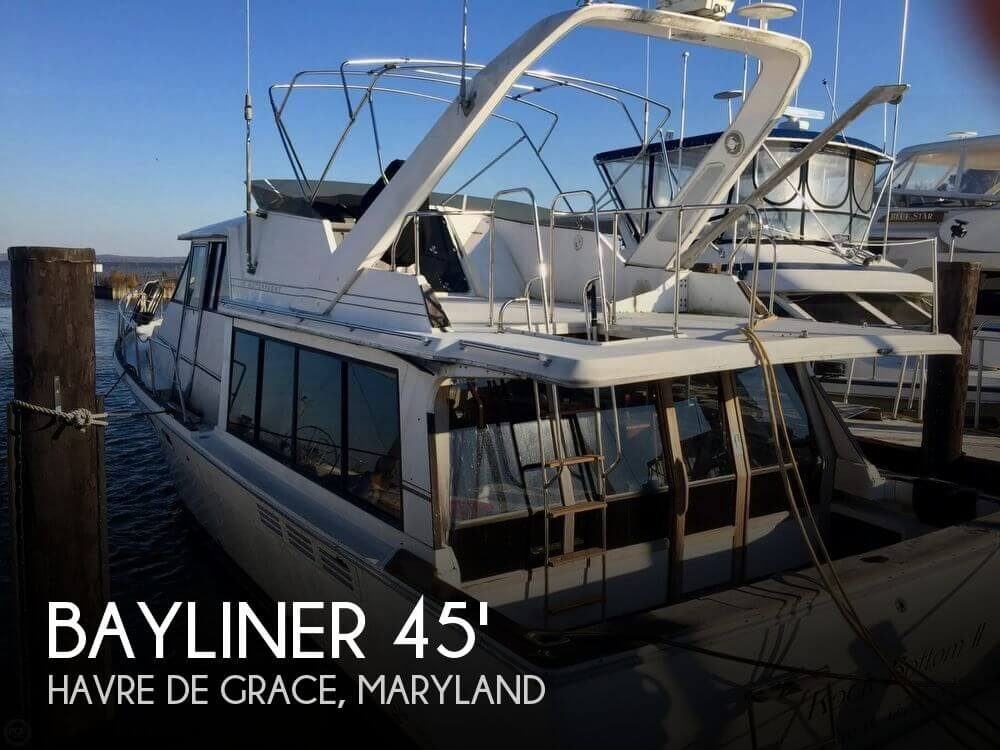 Used Bayliner Boats For Sale in York, Pennsylvania by owner | 1993 Bayliner 4588 Motoryacht