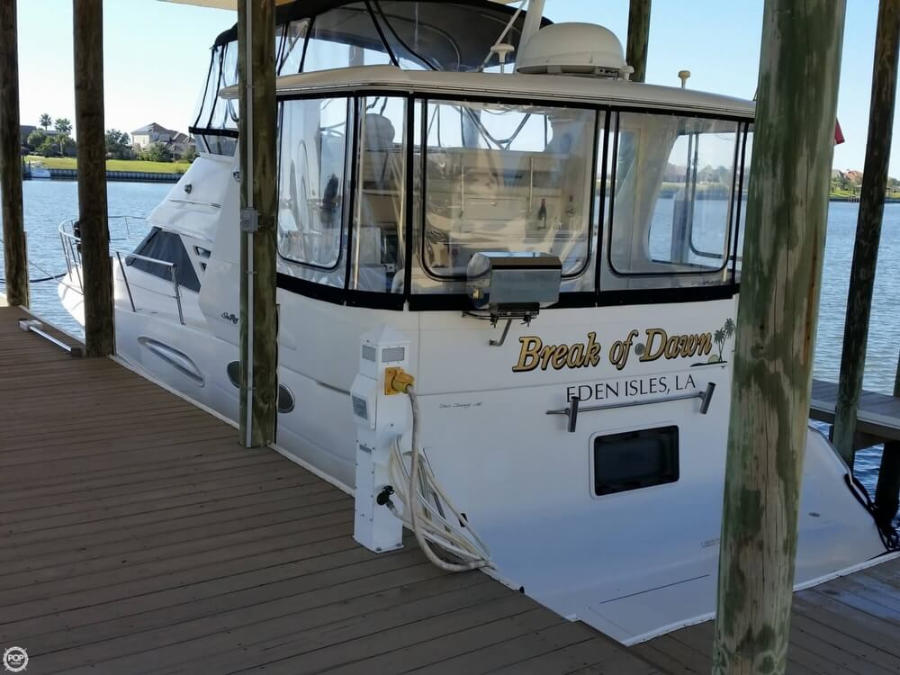 1999 Sea Ray boat for sale, model of the boat is 420 Aft Cabin & Image # 2 of 40