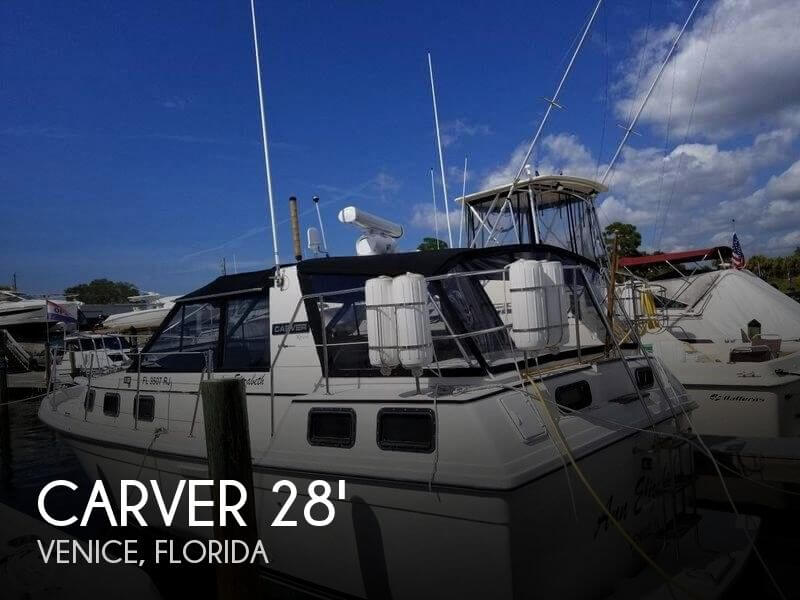 Used Carver Boats For Sale in Florida by owner   1986 Carver Riviera 28
