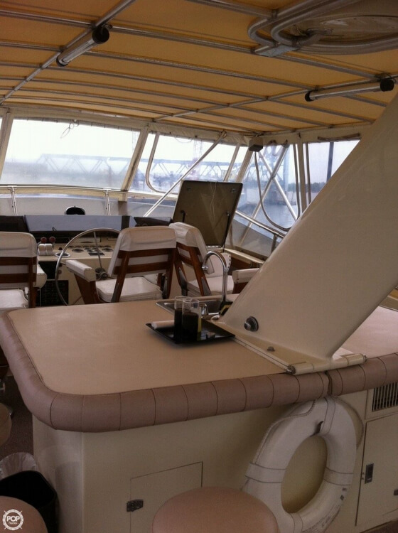 1985 Hatteras boat for sale, model of the boat is 80 CPMY & Image # 5 of 40