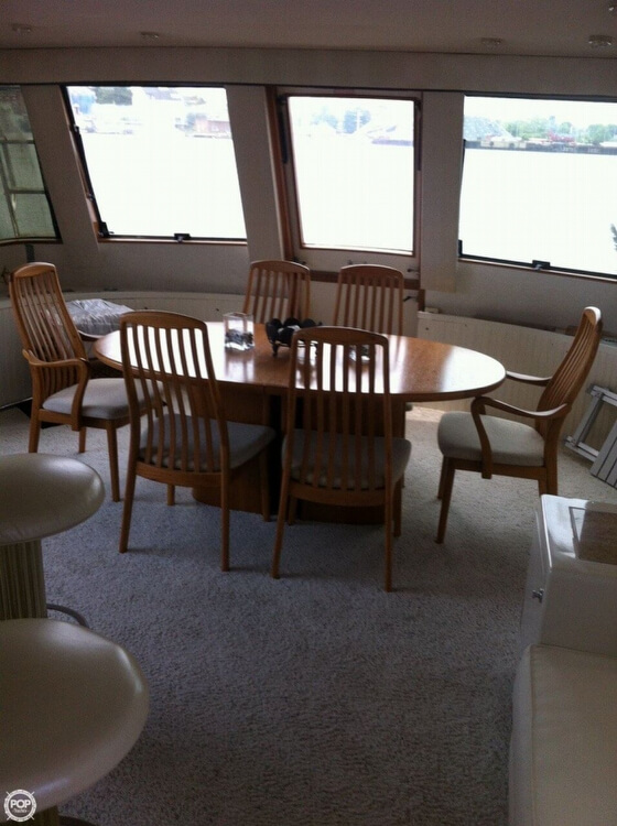 1985 Hatteras boat for sale, model of the boat is 80 CPMY & Image # 6 of 40