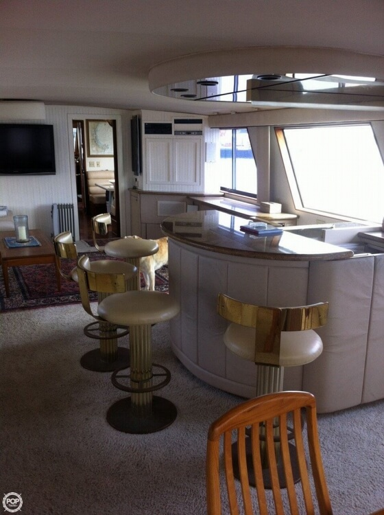1985 Hatteras boat for sale, model of the boat is 80 CPMY & Image # 12 of 40