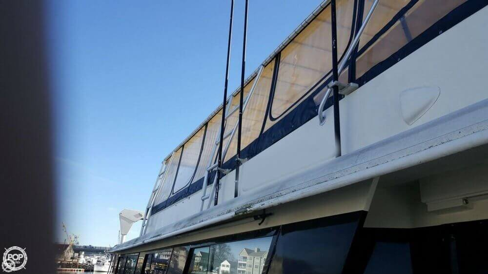 1985 Hatteras boat for sale, model of the boat is 80 CPMY & Image # 3 of 40