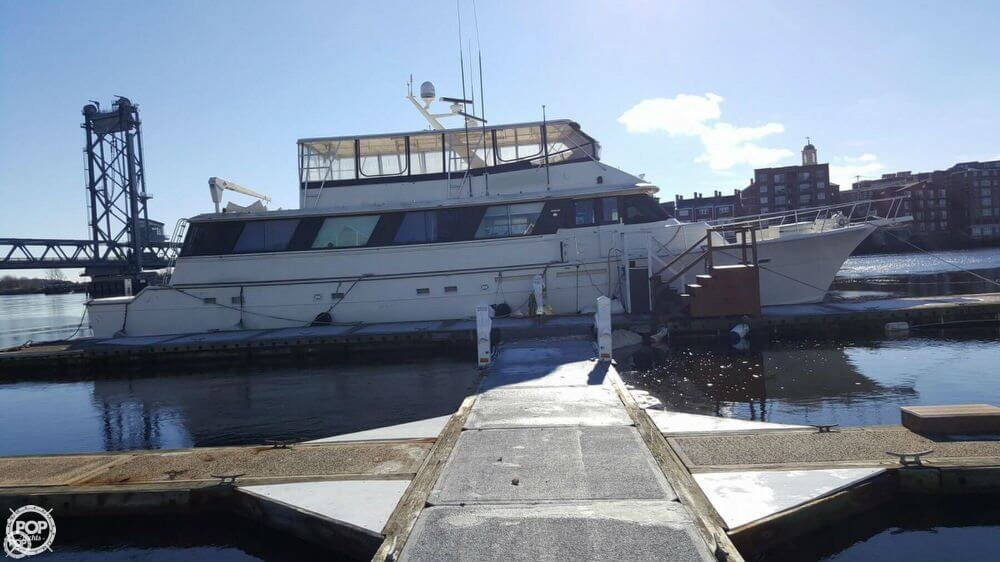 1985 Hatteras boat for sale, model of the boat is 80 CPMY & Image # 2 of 40