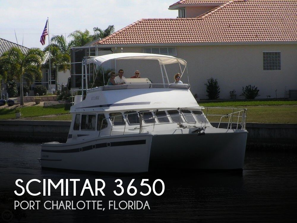 Used Boats For Sale in Naples, Florida by owner | 2002 Scimitar 37