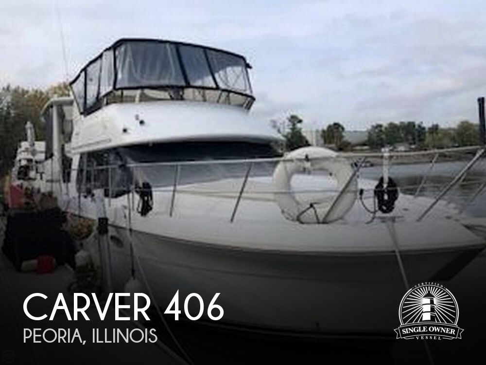 2001 Carver boat for sale, model of the boat is 406 Aft Cabin & Image # 1 of 41