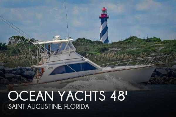 Used Boats For Sale in Ocala, Florida by owner | 1989 Ocean Yachts 48
